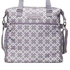 Sarah Wells Lizzy Breast Pump Bag Diaper Work grey